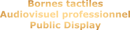 Audiovisuel professionnel, borne tactile, solution tactile, public display, vidéo, vidéoprojecteur, écran grande taille, affichage, Bordeaux